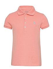 Stretch-Cotton-Mesh Polo Shirt - DECO CORAL