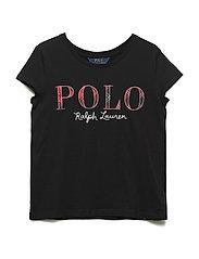 Floral Polo Jersey T-Shirt - POLO BLACK