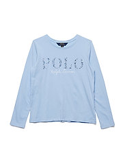 Floral Polo Jersey T-Shirt - ELITE BLUE