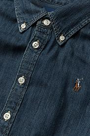 Ralph Lauren Kids - Belted Cotton Denim Shirtdress - robes - indigo - 3