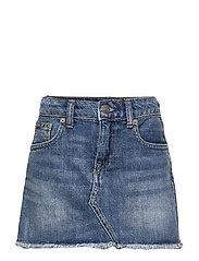 Denim 5-Pocket Skirt - BALES WASH