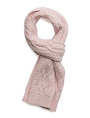 Aran-Knit Scarf - HINT OF PINK