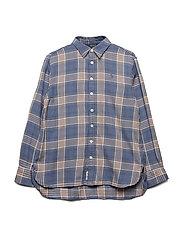 Plaid Tunic Shirt - BLUE/ PINK