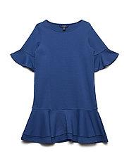 Inset-Lace Ponte Dress - VINEYARD ROYAL