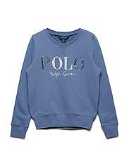 Floral Polo Terry Sweatshirt - CARSON BLUE