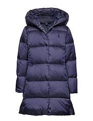 Quilted Down Long Coat - FRENCH NAVY