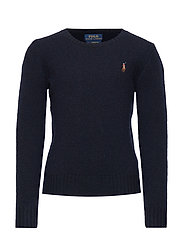 WOOL CREW-TOPS-SWEATER - RL NAVY