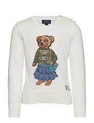 Boho Bear Cotton Sweater - TROPHY CREAM