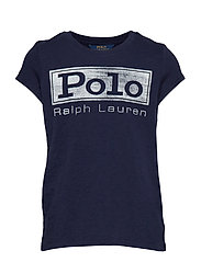 Cotton Jersey Graphic Tee - FRENCH NAVY
