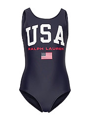 USA One-Piece Swimsuit - HUNTER NAVY