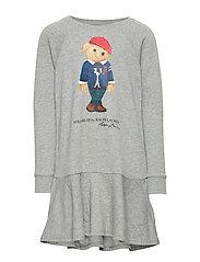 Bear Cotton-Blend Terry Dress - LT GREY HEATHER