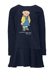 Raincoat Bear Terry Dress - HUNTER NAVY