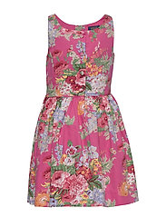 Floral Cotton Sateen Dress - PINK MULTI