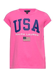 Cotton Jersey Graphic Tee - BAJA PINK