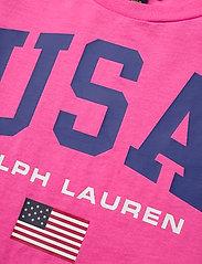 Ralph Lauren Kids - Cotton Jersey Graphic Tee - short-sleeved - baja pink - 2