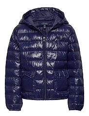Packable Hooded Coat - FRENCH NAVY