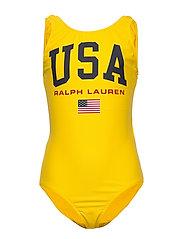 USA One-Piece Swimsuit - LEMON RIND