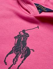 Ralph Lauren Kids - Big Pony Fleece Hoodie - hoodies - baja pink - 2