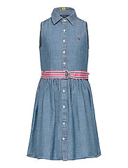 Cotton Chambray Shirtdress - INDIGO
