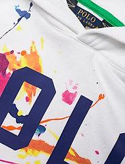 Ralph Lauren Kids - Paint-Splatter Fleece Hoodie - hoodies - white multi - 2
