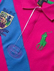 Ralph Lauren Kids - Banner-Stripe Cotton Mesh Polo Dress - kleider - accent pink - 2