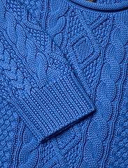 Ralph Lauren Kids - Aran-Knit Cotton Sweater - knitwear - colby blue - 2