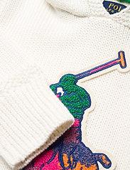 Ralph Lauren Kids - Big Pony Hooded Cotton Sweater - pulls à capuche - trophy cream mult - 3