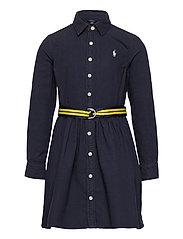Belted Cotton Oxford Shirtdress - RL NAVY