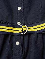 Ralph Lauren Kids - Belted Cotton Oxford Shirtdress - dresses - rl navy - 4