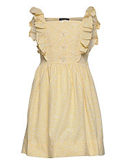 Floral Cotton Poplin Dress - YELLOW MULTI