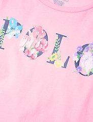 Ralph Lauren Kids - Floral-Logo Cotton Jersey Tee - short-sleeved - carmel pink - 2