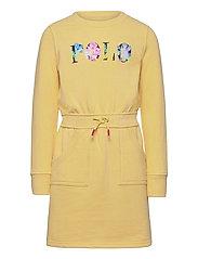 Floral Logo Fleece Dress - BANANA PEEL