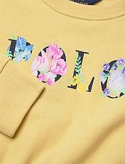 Ralph Lauren Kids - Floral Logo Fleece Dress - dresses - banana peel - 2