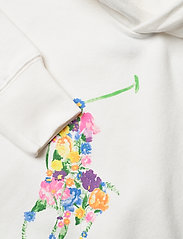 Ralph Lauren Kids - Floral-Pony Fleece Hoodie - hoodies - trophy cream - 2