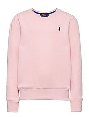 LT WT FLEECE-LS CN FLEECE-TP-KNT - HINT OF PINK