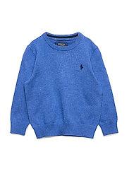 Cotton Crewneck Sweater - DOCKSIDE BLUE HEA