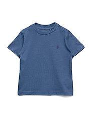 Cotton Jersey Crewneck T-Shirt - FEDERAL BLUE