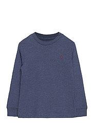 Cotton Jersey Long-Sleeve Tee - FRESCO BLUE HTHR
