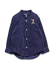 Snowboard Bear Corduroy Shirt - FRENCH NAVY