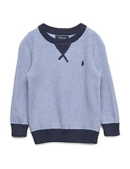 Textured Cotton Sweater - CHAMBRAY HEATHER