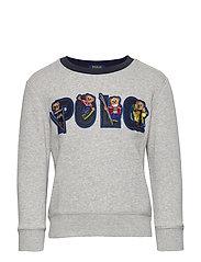 Ski Bear Fleece Sweatshirt - ANDOVER HEATHER