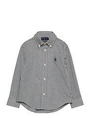 Plaid Cotton Poplin Shirt - GREEN/WINE