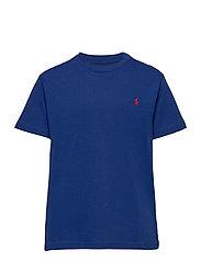 Cotton Jersey Crewneck Tee - SISTINE BLUE