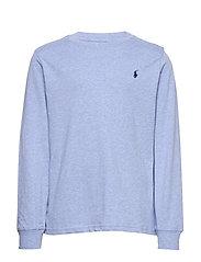 Cotton Jersey Long-Sleeve Tee - COBALT HEATHER