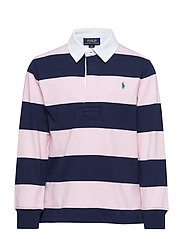 YD JERSEY-LS RUGBY-TP-KNT - CARMEL PINK MULTI