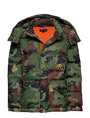Bear Camo Down Jacket - BEAR GRAPHIC PRIN