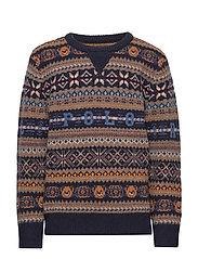 Bear Fair Isle Sweater - RL NAVY MULTI
