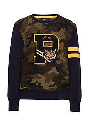 Camo Cotton Letterman Sweater - CAMO MULTI