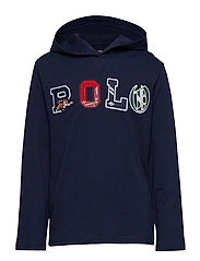 Cotton Graphic Hooded Tee - FRENCH NAVY