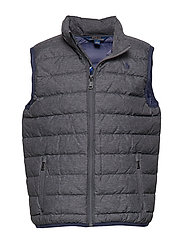 Packable Quilted Down Vest - MECHANIC GREY